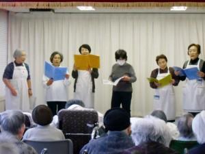 雫石町赤十字奉仕団による誕生会余興