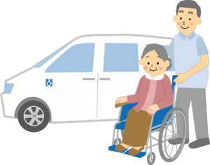 介護車と車椅子